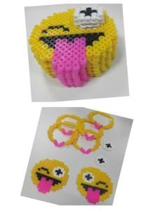 Collage piezas caja emoji guiño
