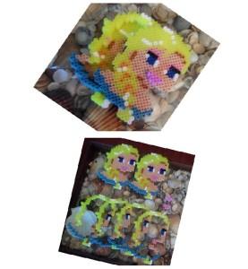 Collage piezas y joyero de Elsa Frozen