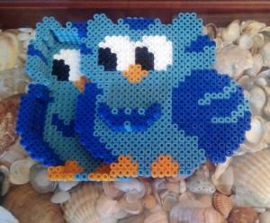 Joyero de búho con hama beads midi