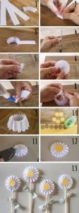 Margaritas con papel reciclado paso a paso