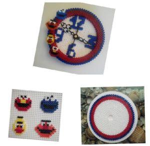 Piezas reloj para niños con hama beads