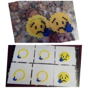 Piezas caja emoticono con lágrima triste