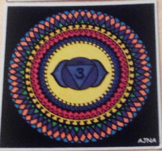 "Mandala sexto chakra ""Ajna"" pinado"