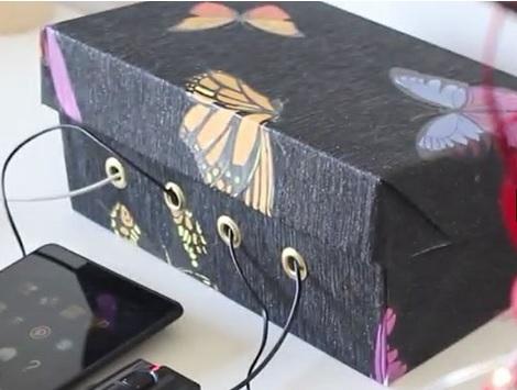 Organizador de cables para dispositivos con caja de cartón paso a paso