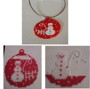 Colgante de bola de Navidad de muñeco de nieve navideño
