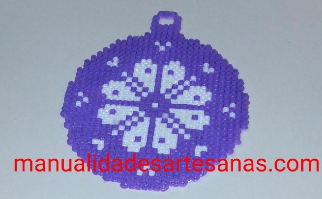 Bola árbol de Navidad de mandala de pétalos de flor con hamabeads mini