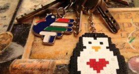 Llavero de pingüino, regalo original para regalar a un seo