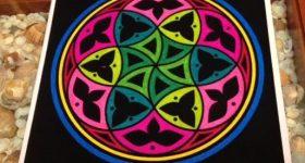 Mandala para armonizar el equilibrio emocional pintado con roturadores