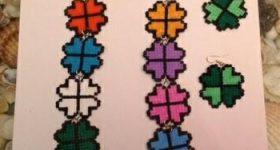 Conjunto de collar y pendientes de tréboles de cuatro hojas de hamamini