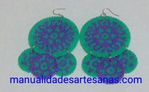 Pendientes de Sevillana de perlas hama