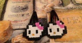 Horquillas Hello Kitty para niñas de perlas mini