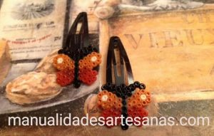 Horquillas de mariposas con perlas mini