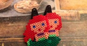 Horquillas de la sirenita Ariel de Disney con perlas mini