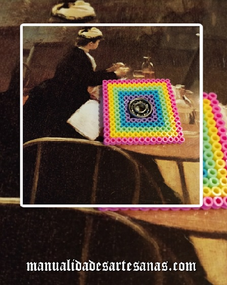 Fidget Spinner cuadrado de perlas midi
