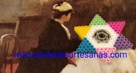 Fidget spinner casero en forma de estrella de perlas hama midi