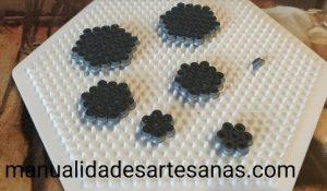 Tablero hexagonal piezas para conjunto hexagonal 3D