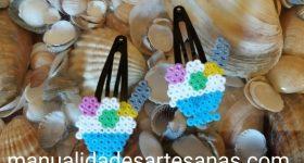Horquillas para el cabello originales de copas de helados de hama mini