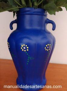 Margaritas pintadas con puntillismo
