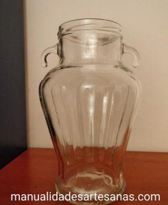 Tarro de cristal vacío de encurtidos