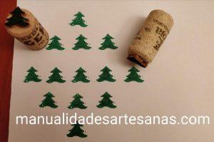 Sellos infantiles de árbol de Navidad