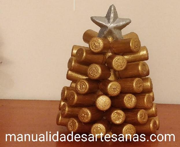 Cómo hacer árbol de Navidad con tapones sintéticos de vino