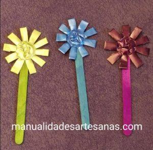 Flores de paletas de helado con cápsulas nespresso