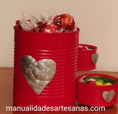 Bombonera casera para San Valentín