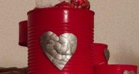 Como hacer dispensador de bombones original con latas de conservas