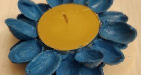 Ideas para hacer porta velas o candelabros con cáscaras de pistachos