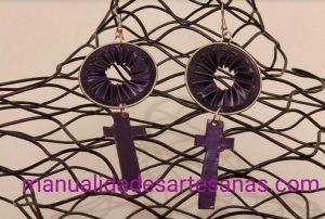 Pendientes de cápsulas nespresso de símbolo de la mujer