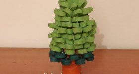 Bulon de doble cono transformado en árbol de Navidad