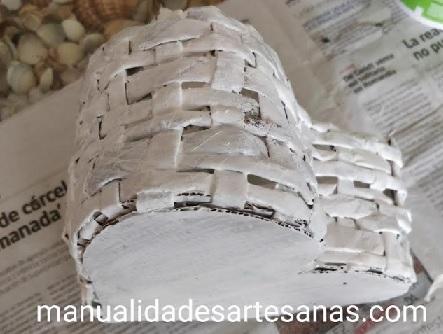Capa de imprimación en cesto de corazón