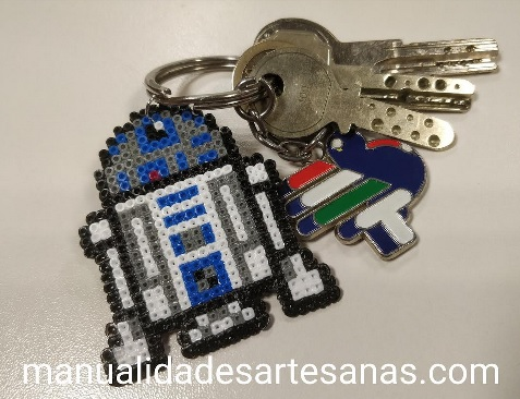 Llavero de R2-D2 de Star Wars hama mini