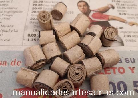 Rollitos tubos de cartón