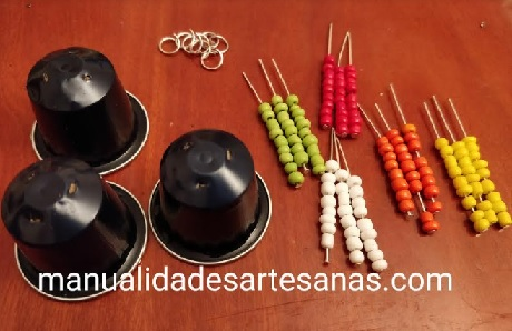 Materiales para pendientes hippies nespresso y abalorios