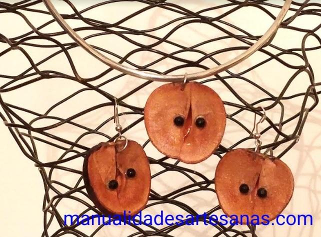 Pendientes forma de manzana de semilla de aguacate