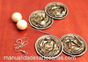 Materiales de pendientes nespresso y alfileres de bola