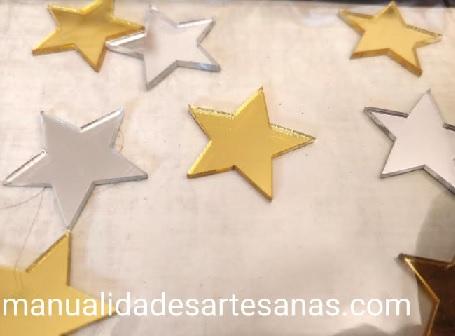 Espejos en forma de estrella para pendientes nespresso