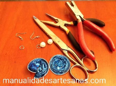 Materiales para pendientes de lazos nespresso y perlas
