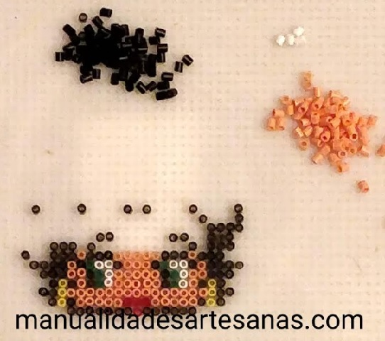 Betty Boop en tablero cuadrado hamabeads mini