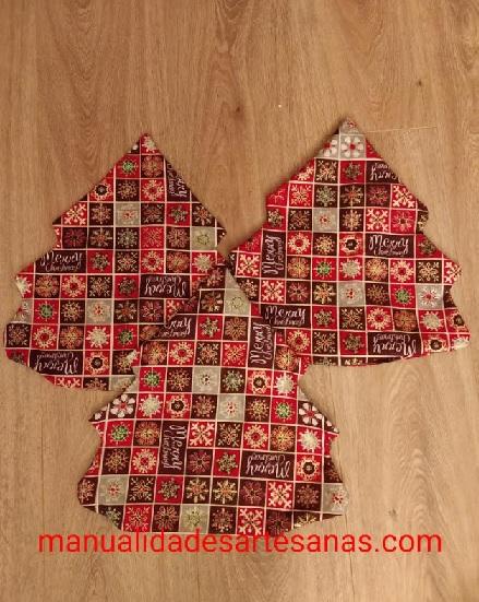Patrones árbol de Navidad 3D de mantel viejo